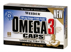 "Жирные кислоты ""Weider Omega 3 caps 60 капсул"" (Производитель Weider)"