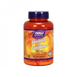 """Аргинин """"NOW Arginine & Citrulline 120 капсул"""" (Производитель NOW Foods)"""