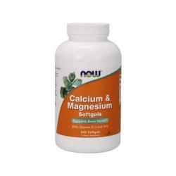 """Магний """"NOW Calcium & Magnesium + D 240 капсул"""" (Производитель NOW Foods)"""