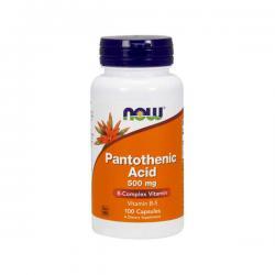 """Витамины и минералы """"NOW Pantothenic Acid 500mg 100 капсул"""" (Производитель NOW Foods)"""