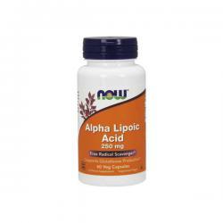 """Антиоксиданты """"NOW Alpha Lipolic Acid 250 мг 60 капсул"""" (Производитель NOW Foods)"""