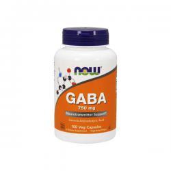 """Поддержка нервной системы """"NOW GABA 750 мг 100 капсул"""" (Производитель NOW Foods)"""