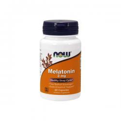 """Поддержка нервной системы """"NOW Melatonin 3mg 60 капсул"""" (Производитель NOW Foods)"""