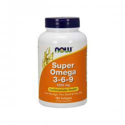 """Жирные кислоты """"NOW Super Omega 3-6-9 1200 мг 180 капсул"""" (Производитель NOW Foods)"""