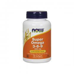 """Жирные кислоты """"NOW Super Omega 3-6-9 1200 мг 90 капсул"""" (Производитель NOW Foods)"""