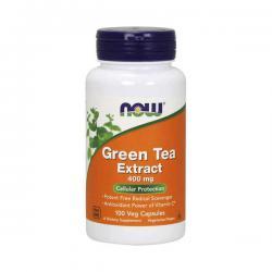 """Подавление аппетита """"NOW Green Tea Extract 400 мг 100 капсул"""" (Производитель NOW Foods)"""