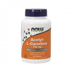 "Капсулы и таблетки ""NOW Acetyl-L-Carnitine 750mg 90 таблеток"" (Производитель NOW Foods)"