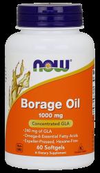 """Жирные кислоты """"NOW Borage Oil 1000 mg 60 softgels"""" (Производитель NOW Foods)"""
