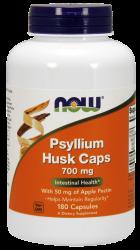 """Для печени и ЖКТ """"NOW Psyllium Husk 700 mg + pectin 180 caps"""" (Производитель NOW Foods)"""