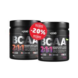 """Наборы (стаки) """"VPLab BCAA 2:1:1 300 g Grape + BCAA 2:1:1 300 g Cola"""" (Производитель VPLab Nutrition)"""