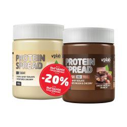 "Наборы (стаки) ""VPLab Protein Spread White chocolate Smooth + Protein Spread Choco-Hazelnut Crunchy 250 g"" (Производитель VPLab Nutrition)"